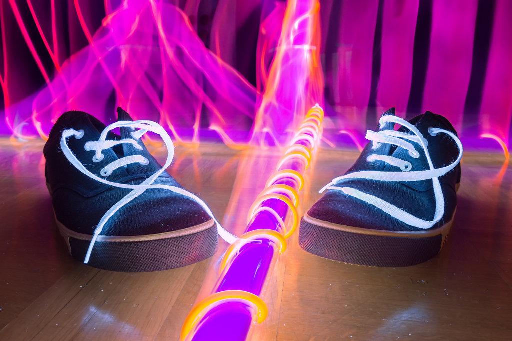 Black Light Shoes